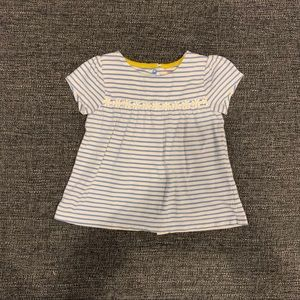 Mini Boden Striped Top with Sunflowers
